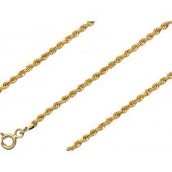 Złota bransoletka kordel 17cm, złoto 585, 1,9mm