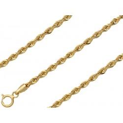 Złota bransoletka kordel 21cm, złoto 585, 1,9mm