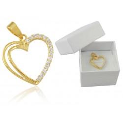 Wisior złote serduszko,złoto 585 serce na prezent