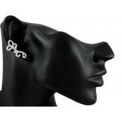 Kolczyk nausznica z cyrkoniami,prawe ucho, pr.925