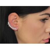 Kolczyk nausznica nieskończoność z cyrkoniami, prawe ucho, pr.925