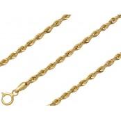 Złoty łańcuszek kordel gruby 50 cm, złoto 585, 3mm