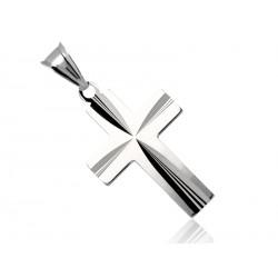 Krzyżyk srebrny diamentowany próby 925, krzyż