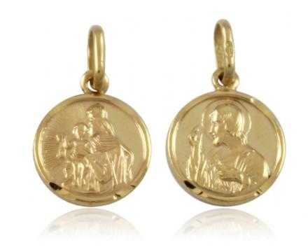 Medalik złoty pr.585 szkaplerz mały