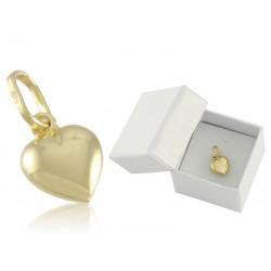 Wisior złote serce dmuchane,złoto 585 na prezent